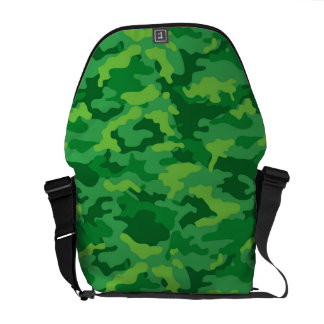 Green Army Military Camo Camouflage Pattern Fabric Commuter Bags