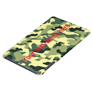 Green Army Navy Air Force Camouflage iPad Case