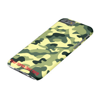 Green Army Navy Air Force Camouflage iPhone 6 Case Barely There iPhone 6 Case