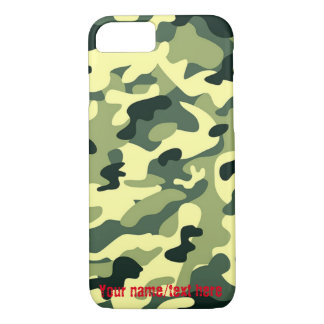 Green Army Navy Air Force Camouflage iPhone 7 Case