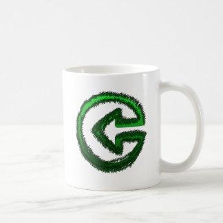 green arrow basic white mug