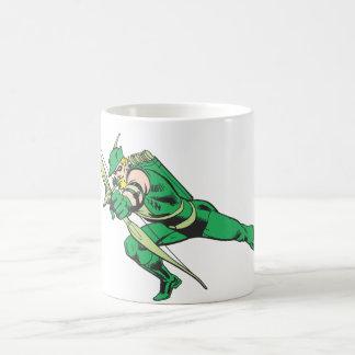 Green Arrow Crouches Coffee Mug