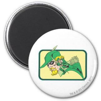 Green Arrow Head Shot 6 Cm Round Magnet