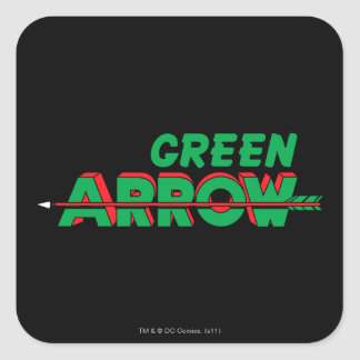 Green Arrow Logo 2 Square Sticker