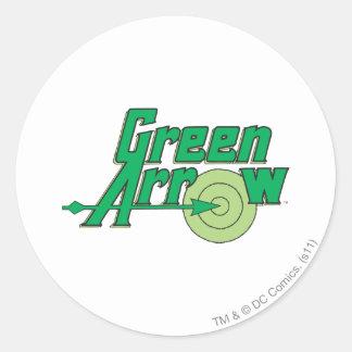 Green Arrow Logo Classic Round Sticker