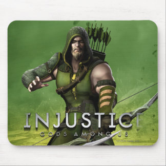 Green Arrow Mouse Pad