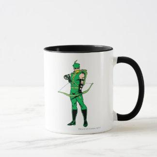 Green Arrow Standing with Bow Mug