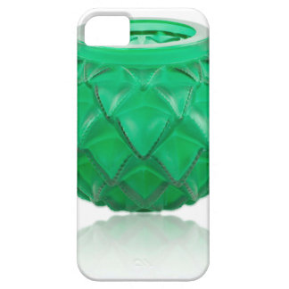 Green Art Deco carved glass vase. Case For The iPhone 5
