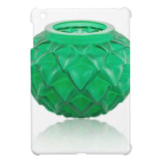 Green Art Deco carved glass vase. iPad Mini Covers