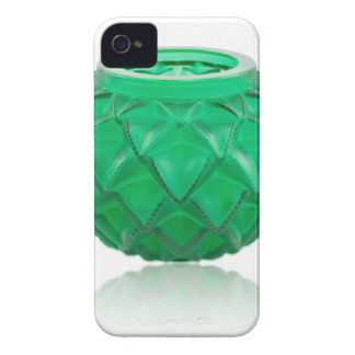 Green Art Deco carved glass vase. iPhone 4 Case-Mate Case