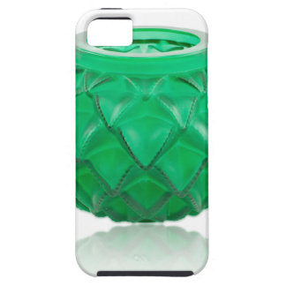 Green Art Deco carved glass vase. Tough iPhone 5 Case