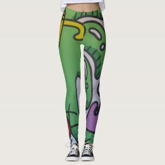 Green Art Design Leggings