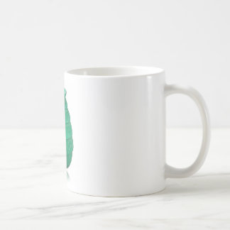 Green Art Glass Vase Coffee Mug