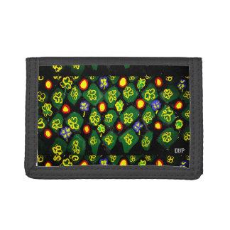 Green art trifold wallet