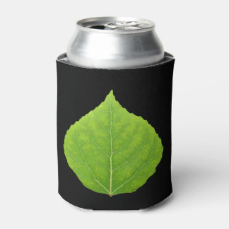 Green Aspen Leaf #11 Can Cooler