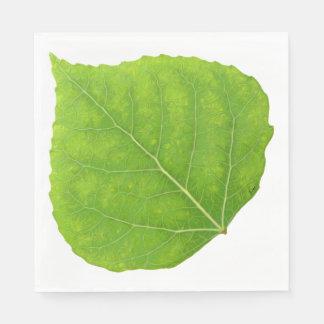 Green Aspen Leaf #11 Disposable Serviette