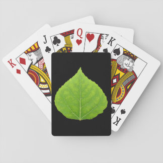 Green Aspen Leaf #11 Playing Cards