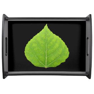 Green Aspen Leaf #11 Serving Tray