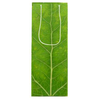 Green Aspen Leaf #11 Wine Gift Bag