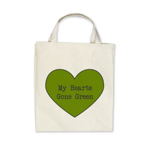 Green At Heart Organic Grocery Tote Bag