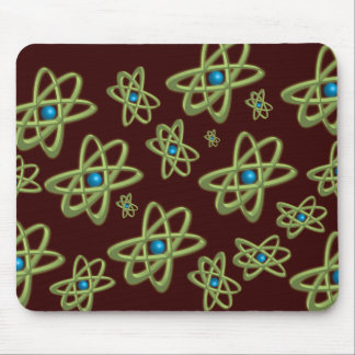 Green Atoms Mouse Pad