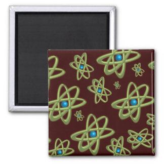 Green Atoms Square Magnet