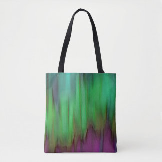 Green Aurora Borealis Tote Bag