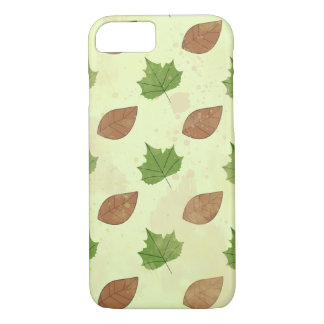 Green Autumn Leaves Pattern iPhone 8/7 Case