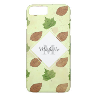 Green Autumn Leaves Pattern iPhone 8 Plus/7 Plus Case