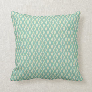 Green Autumn Leaves Pillow
