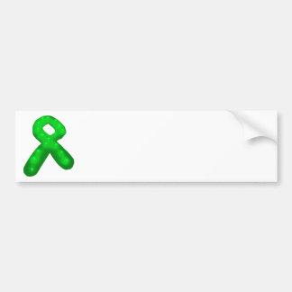 Green Awareness Ribbon Candle Bumper Sticker