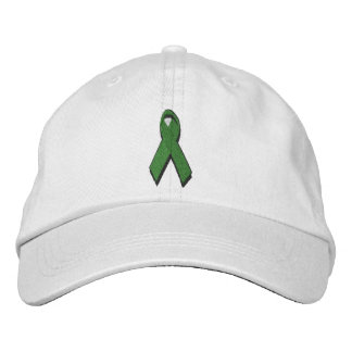 green awareness ribbon embroidered hat