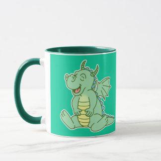 Green Baby Dragon Mug