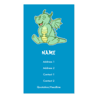 Green Baby Dragon Play Date/Business Card