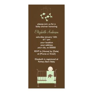 Green Baby in Crib Baby Shower Card