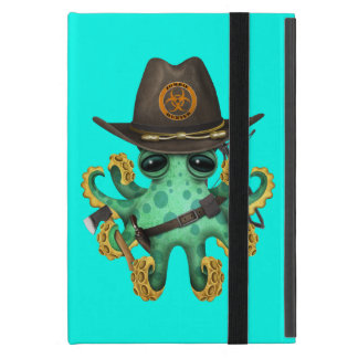 Green Baby Octopus Zombie Hunter Cover For iPad Mini
