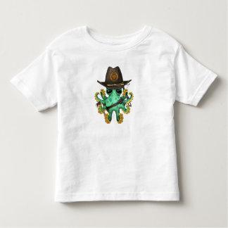 Green Baby Octopus Zombie Hunter Toddler T-Shirt