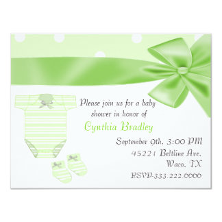 Green Baby shower invitation