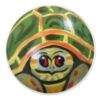 Green Baby Turtle Drawer Door Cabinet Knob Kids