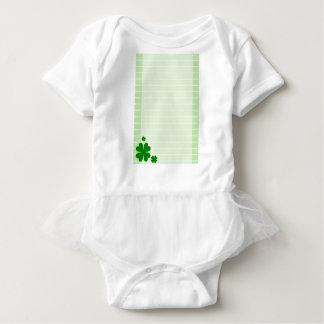 Green Background Baby Bodysuit