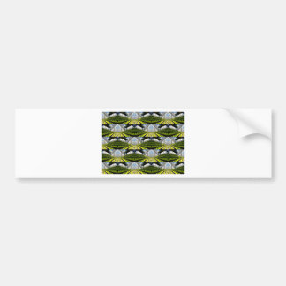 Green background bumper sticker