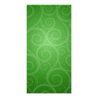 Green Background Swirls Card