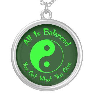Green Balance Yin Yang Necklace
