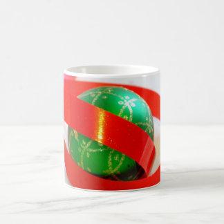 Green Ball, Red Ribbon Gift Items Mugs