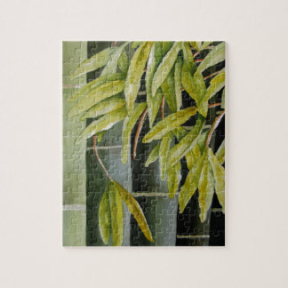 Green Bamboo Jigsaw Puzzle