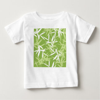 Green Bamboo Leaves Unique Pattern Baby T-Shirt