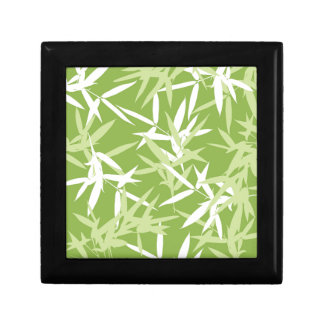 Green Bamboo Leaves Unique Pattern Gift Box