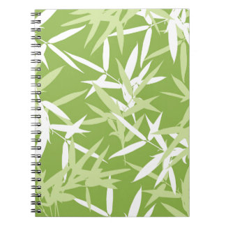 Green Bamboo Leaves Unique Pattern Notebook