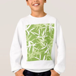 Green Bamboo Leaves Unique Pattern Sweatshirt