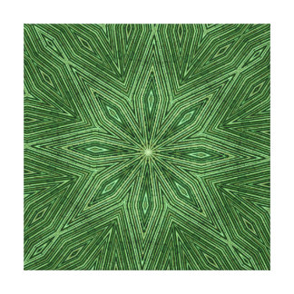 Green Bamboo Modern Geometric Diamond Pattern Gallery Wrapped Canvas